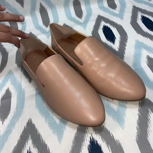 NWT Halogen Nude Leather Sylvia Loafers